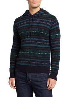 Ralph Lauren Men's Cashmere Fair Isle Hoodie Sweater
