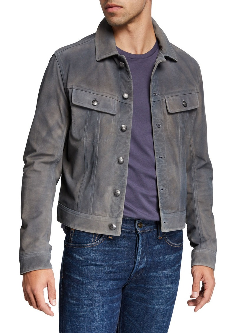 Ralph Lauren Men's Clifton Suede Trucker Jacket