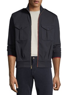 Ralph Lauren Men's Contrast-Trim Track Jacket