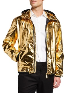 Ralph Lauren Men's Essex Metallic Zip-Front Hooded Coat