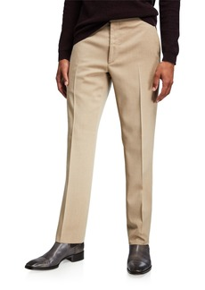 Ralph Lauren Men's Flat-Front Wool Trousers