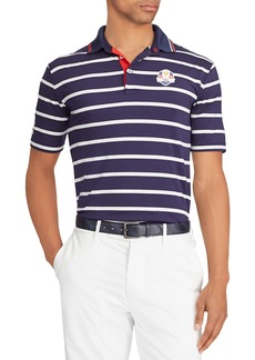 "Ralph Lauren Men's ""Friday"" USA Ryder Cup Striped French-Knit Golf Polo Shirt"