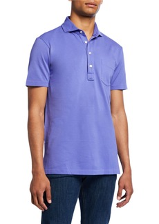 Ralph Lauren Men's Jersey Pocket Polo Shirt, Blue