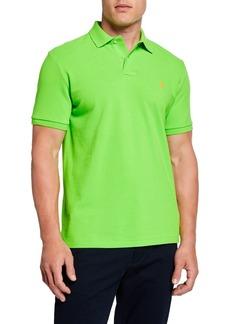 Ralph Lauren Men's Logo-Embroidered Polo Shirt  Green