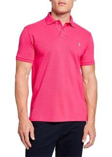 Ralph Lauren Men's Logo-Embroidered Polo Shirt  Pink