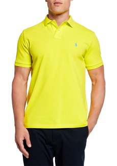 Ralph Lauren Men's Logo-Embroidered Polo Shirt  Yellow