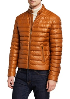 Ralph Lauren Men's Lux Leather Puffer Jacket