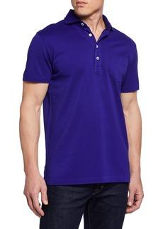 Ralph Lauren Men's Pique Pocket Polo Shirt  Royal