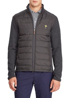Ralph Lauren Men's Quilted Insulated Golf Jacket with Wool Trim