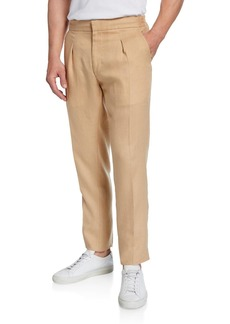 Ralph Lauren Men's Relaxed Drawstring Linen Trouser