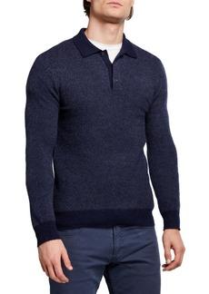 Ralph Lauren Men's Solid Cashmere Polo Shirt