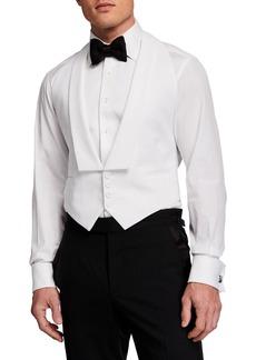 Ralph Lauren Men's Solid Pique Formal Vest
