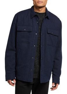 Ralph Lauren Men's Solid Wool-Blend Tweed Shirt Jacket