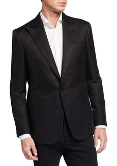 Ralph Lauren Men's Tonal Glen Plaid Single-Button Jacket