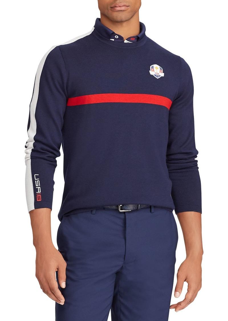 Ralph Lauren Men S Usa Ryder Cup Thermocool Striped Trim