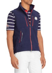 Ralph Lauren Men's USA Ryder Cup Zip-Front Knit Golf Vest