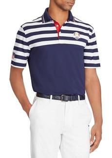 "Ralph Lauren Men's ""Wednesday"" USA Ryder Cup Striped French-Knit Golf Polo Shirt"