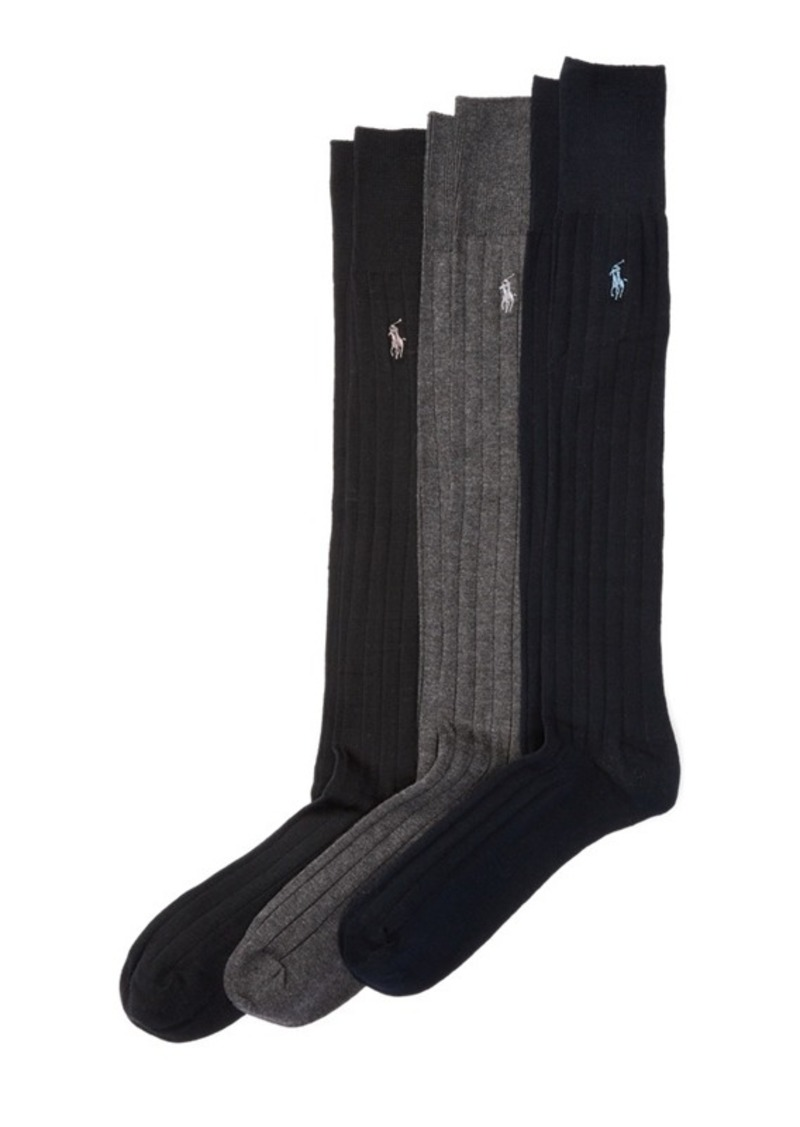 Ralph Lauren Mercerized Slack Sock 3-Pack