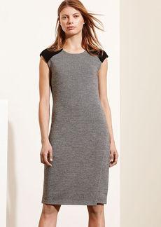 Ralph Lauren Merino-Suede Sweater Dress