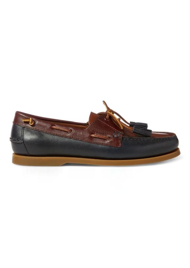 4f788c0476b SALE! Ralph Lauren Merton Leather Boat Shoe