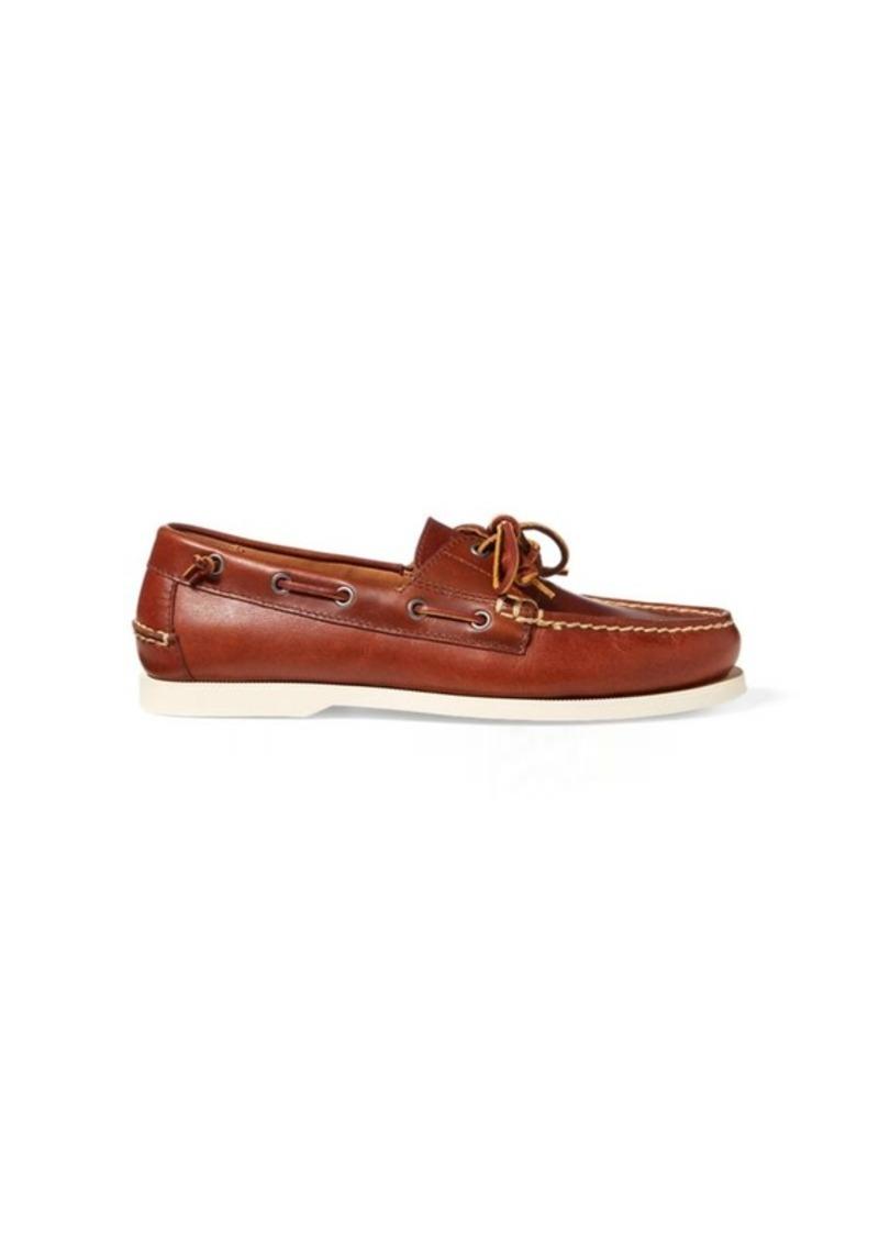 2ee9b609f452 Ralph Lauren Merton Leather Boat Shoe
