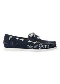 2b86f5edc8 SALE! Ralph Lauren Telford Calfskin Boat Shoe