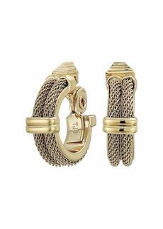 Ralph Lauren Mesh Clip Hoop Earrings