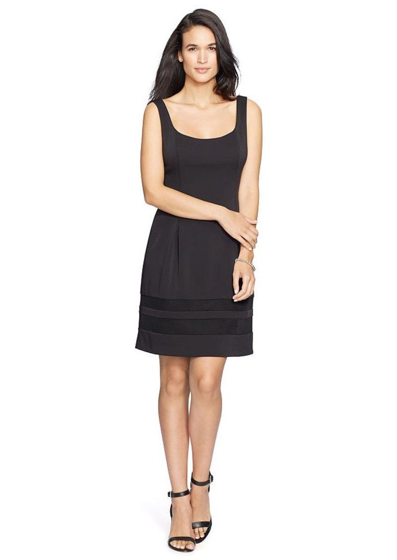 Ralph Lauren Mesh-Insert Neoprene Dress