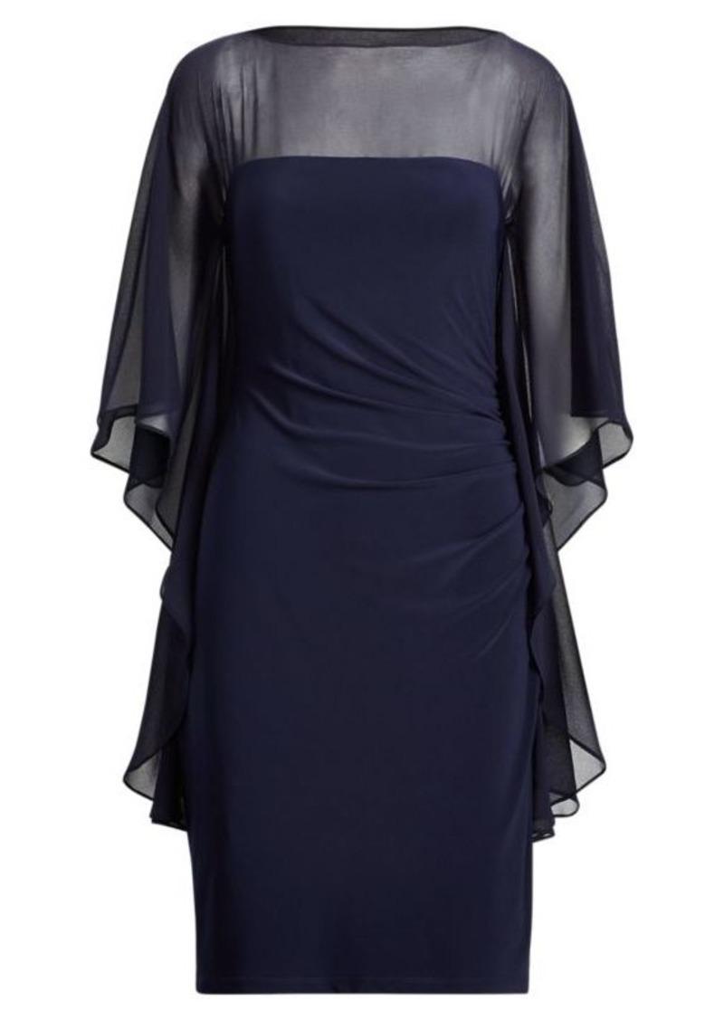 Ralph Lauren Mesh-Jersey Boatneck Dress