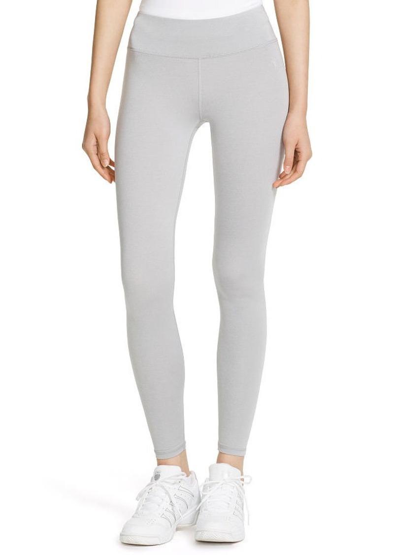 Ralph Lauren Mesh-Paneled Jersey Legging