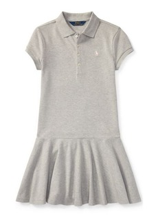 Ralph Lauren Mesh Short-Sleeve Polo Dress