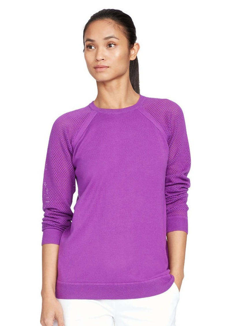 Ralph Lauren Mesh-Sleeve Sweater