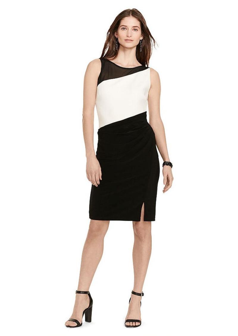 Ralph Lauren Mesh-Yoke Jersey Dress