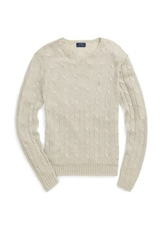 Ralph Lauren Metallic Cable-Knit Sweater