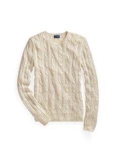 Ralph Lauren Metallic Cable-Knit Sweater
