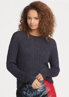 Ralph Lauren Metallic Cable Sweater