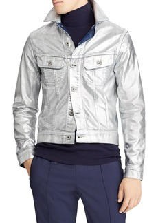 Ralph Lauren Metallic Denim Trucker Jacket