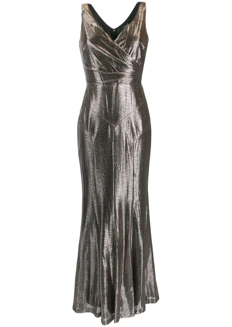 Ralph Lauren metallic evening gown