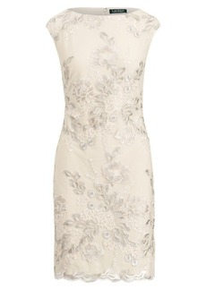 Ralph Lauren Metallic Floral Mesh Dress
