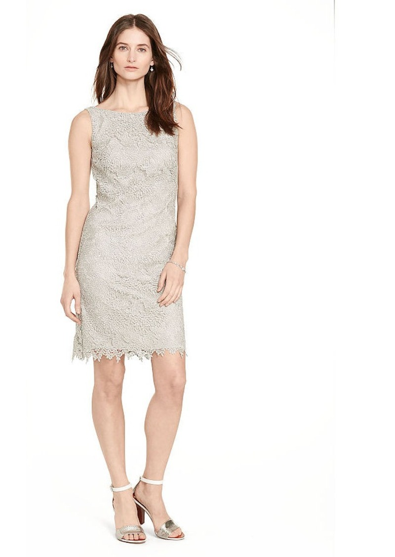 Ralph Lauren Metallic-Lace Sheath Dress