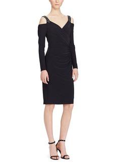 Ralph Lauren Metallic Off-The-Shoulder Gown