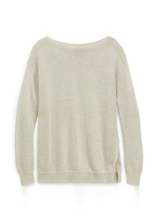 Metallic Ribbed Sweater