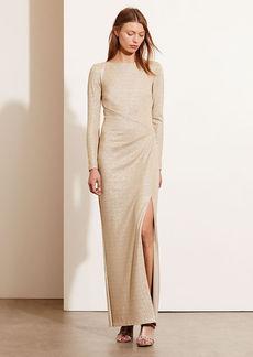 Metallic Scoop-Back Gown