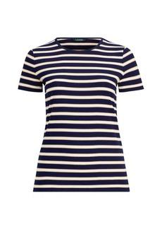 Ralph Lauren Metallic-Stripe Jersey T-Shirt