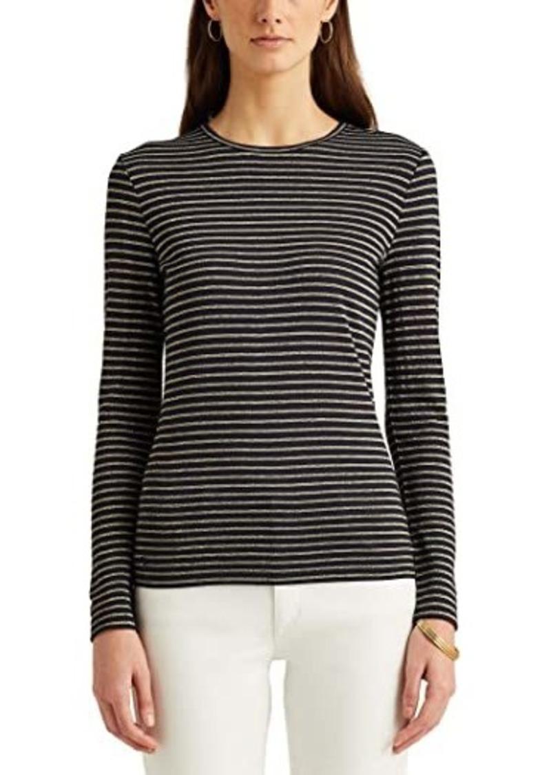 Ralph Lauren Metallic-Stripe Jersey Top