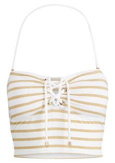 Ralph Lauren Metallic Striped Tankini