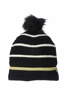 Ralph Lauren Metallic Tipped Striped Beanie