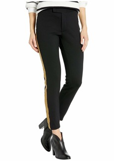Ralph Lauren Metallic-Trim Ponte Pants
