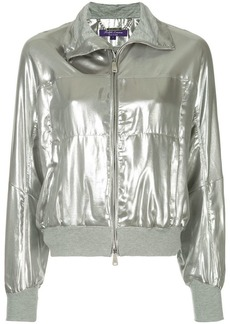 Ralph Lauren metallic zipped bomber jacket