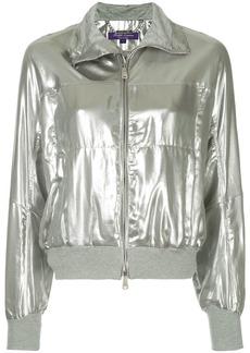 Ralph Lauren metallic zipped bomber jacket
